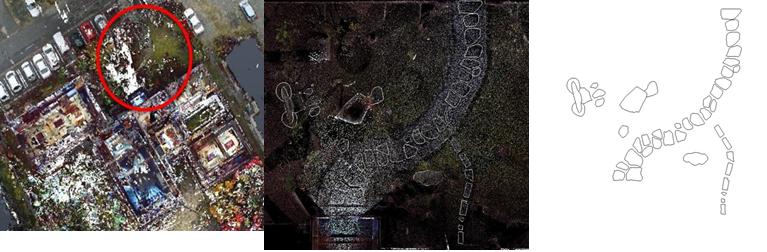 庭園の平面図化の例